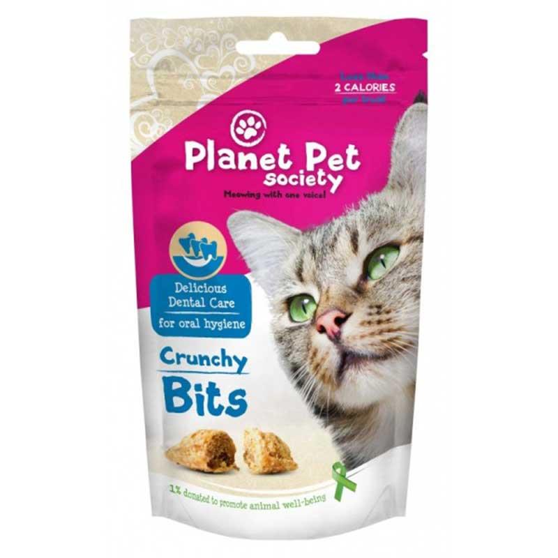 Planet Pet Society Crunchy Bits for dental care - деликатесно лакомство за здрави и бели зъби 40гр