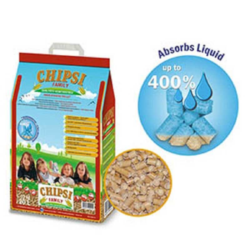 JRS Chipsi Family - хигиенни царевични пелети за котки, гризачи, птици 20л