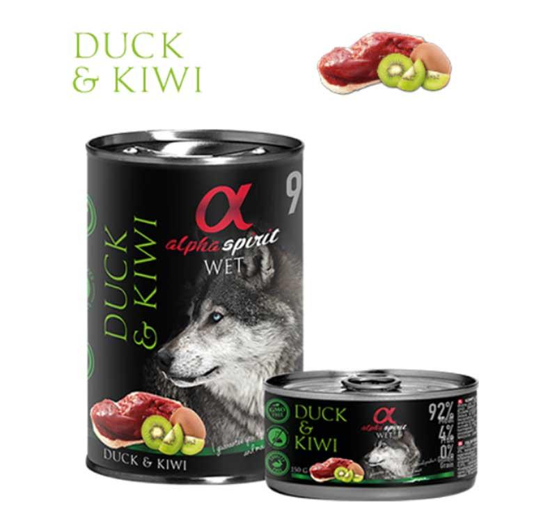 Alpha Spirit Duck & Kiwi - консерва с патешко месо и киви 150гр