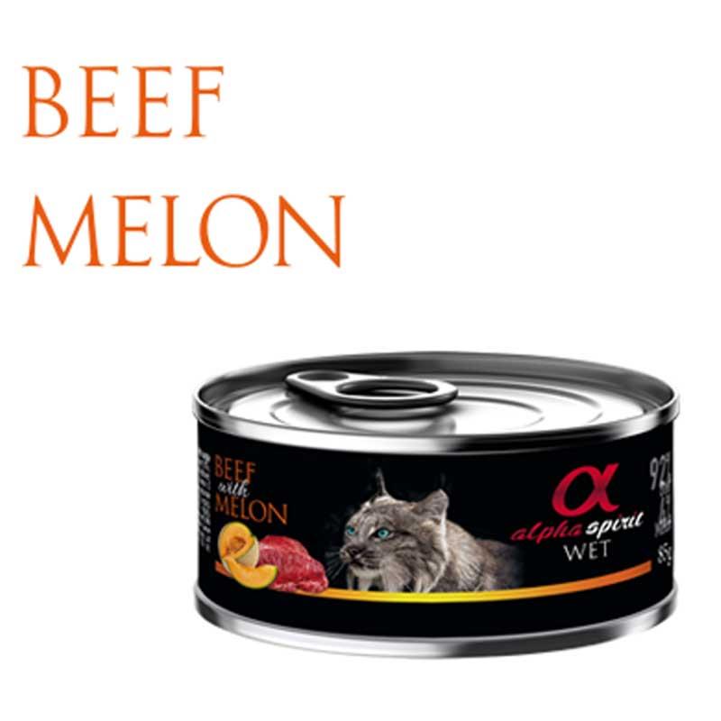 Alpha Spirit Beef with Melon - консерва с телешко месо и пъпеш 85гр