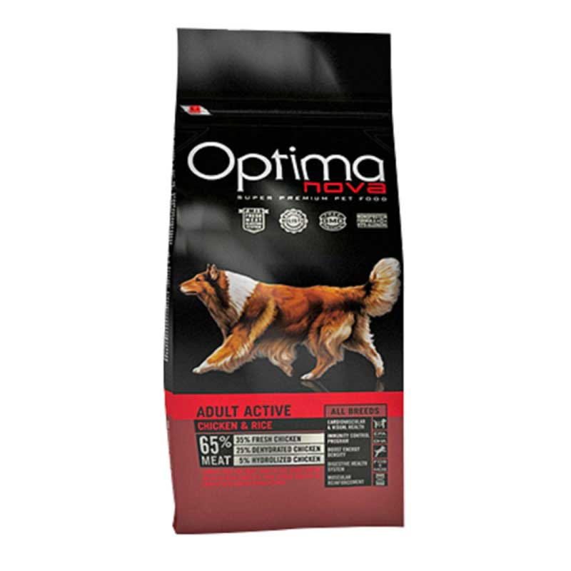 Optima Nova Adult Active Chicken & Rice 12кг
