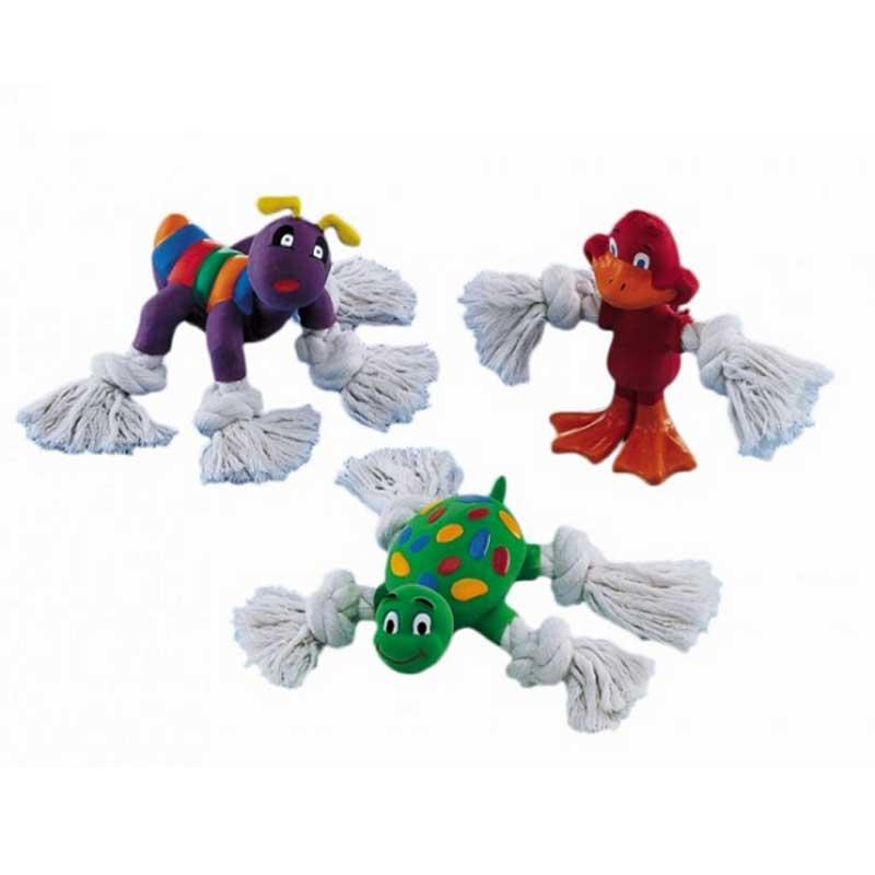 Nobby играчка латекс с въже 12-14см