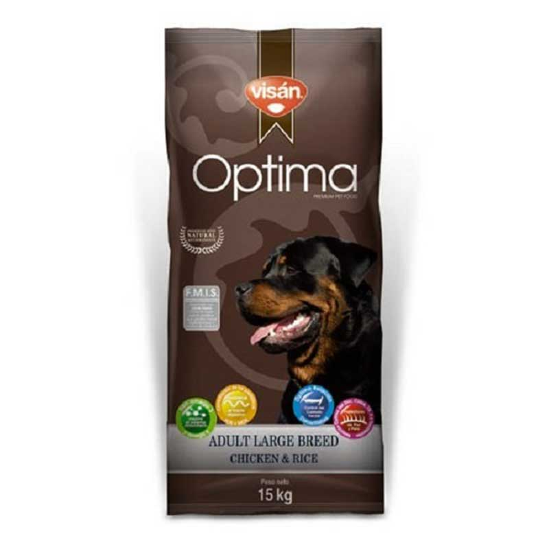 Optima Adult Large Breed Chicken & Rice - с пилешко месо 15кг