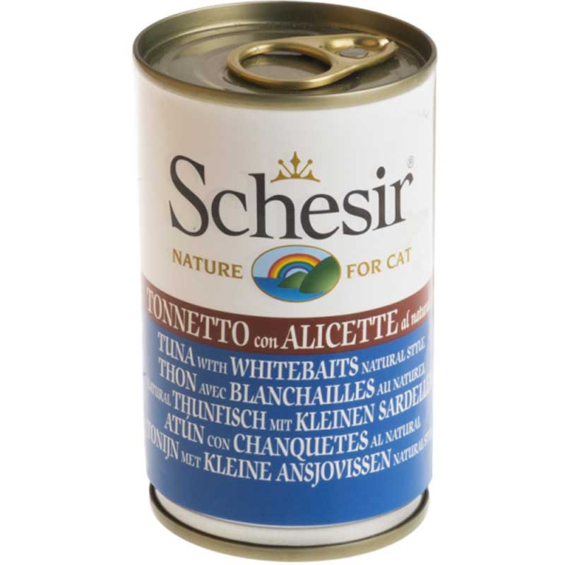 Schesir Nature Tuna with whitebait - риба тон с атерина 140гр