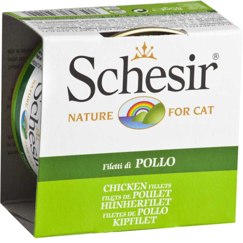 Schesir Nature Chicken fillet - пилешки филенца 85гр