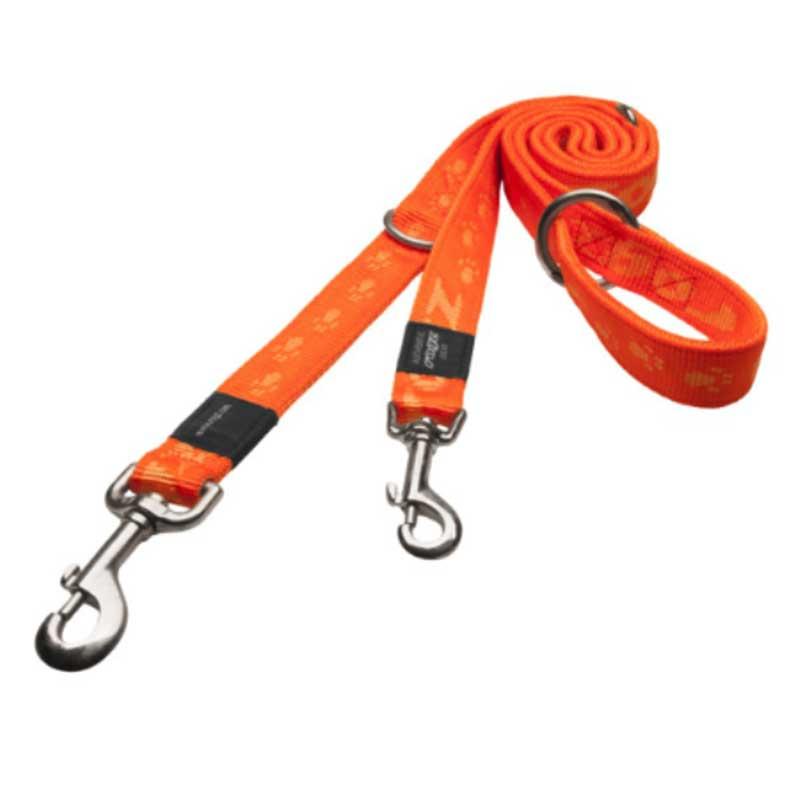 Rogz Alpinist D - оранжев двоен повод за кучета