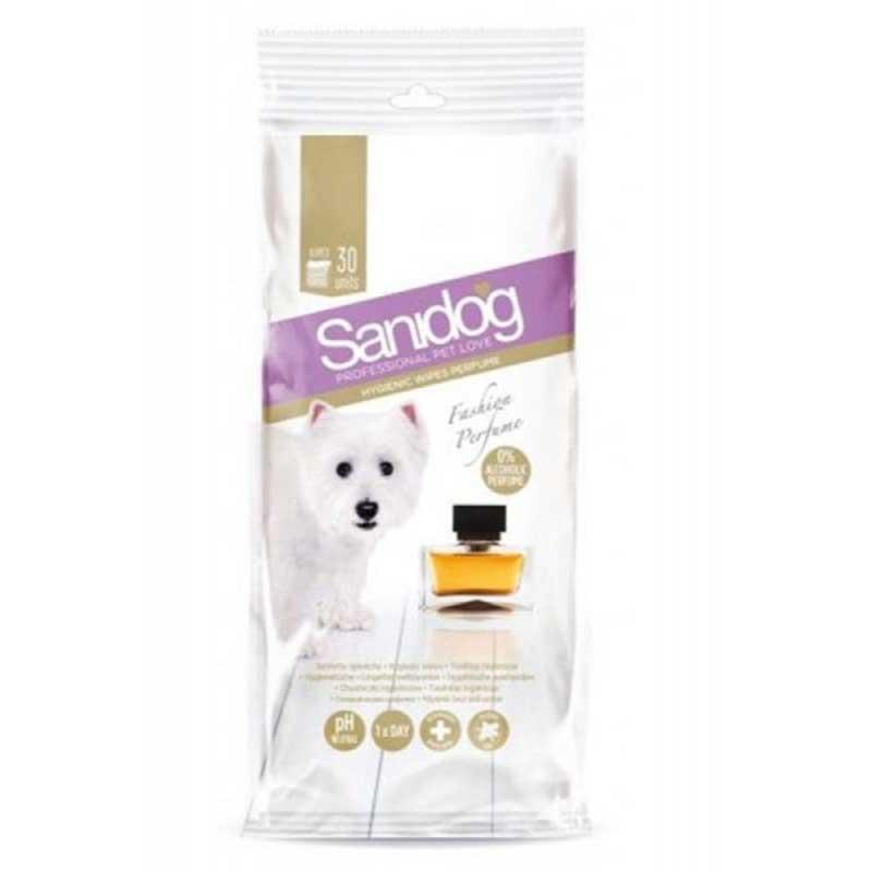 Sanidog Elegance Fashion Perfume Wipes - ароматизирани мокри кърпички за почистване на тяло 30бр