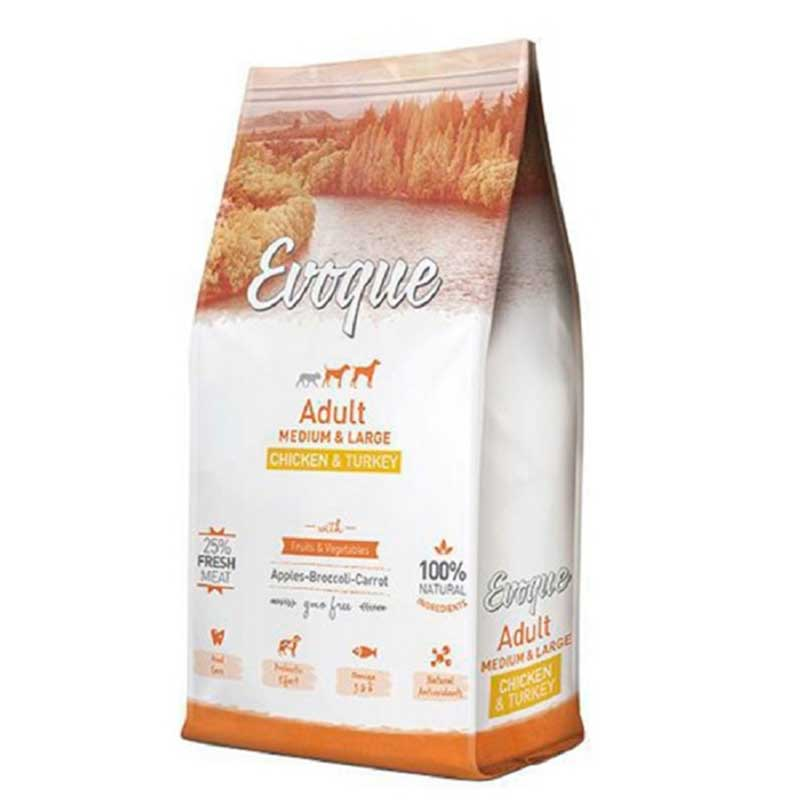 Evoque Adult Medium/Large Chicken & Turkey 12кг