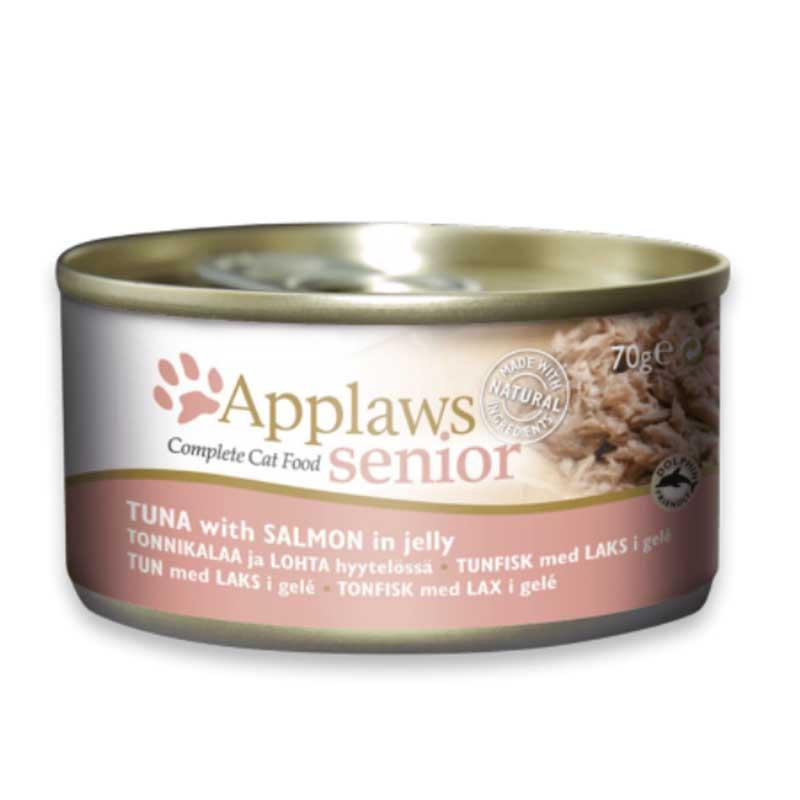 Applaws Senior Tin – Tuna with Salmon - консерва за възрастни котки с риба тон и сьомга в желе 70гр