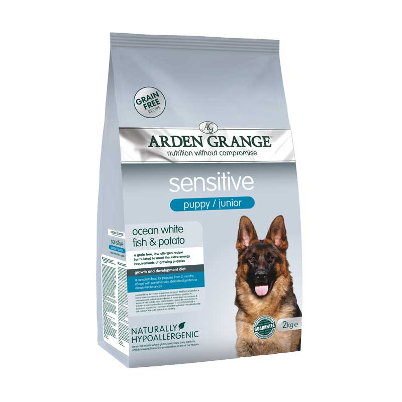 Arden Grange Sensitive Puppy Grain free - с бяла риба и картоф