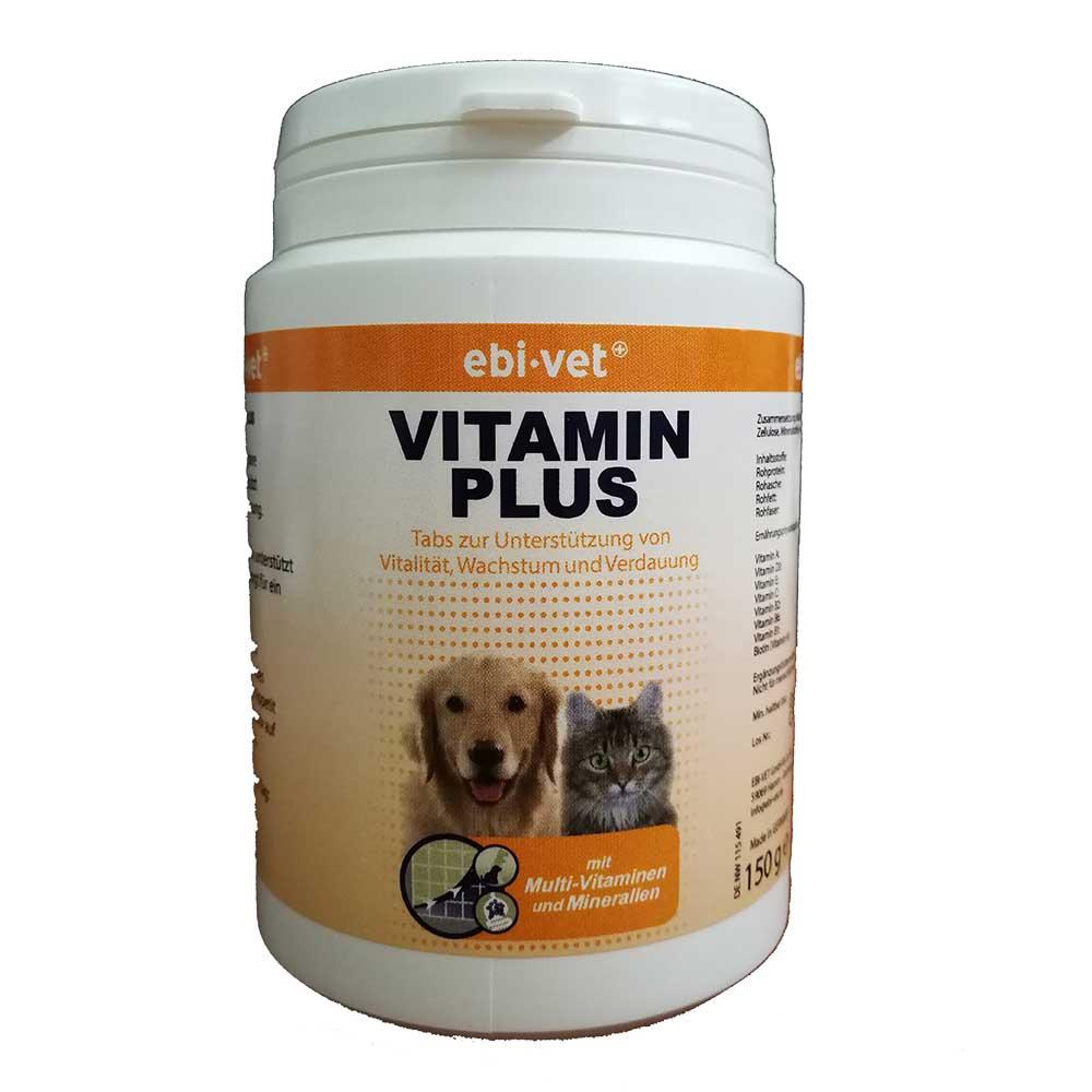 Ebi-Vet Vitamin Plus - ежедневна добавка при хранене с домашна храна и лечение с антибиотици 150гр/300табл