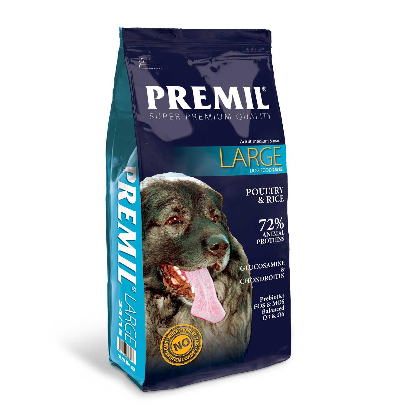 Premil Large 24/15 - с пилешко и патешко месо 15кг