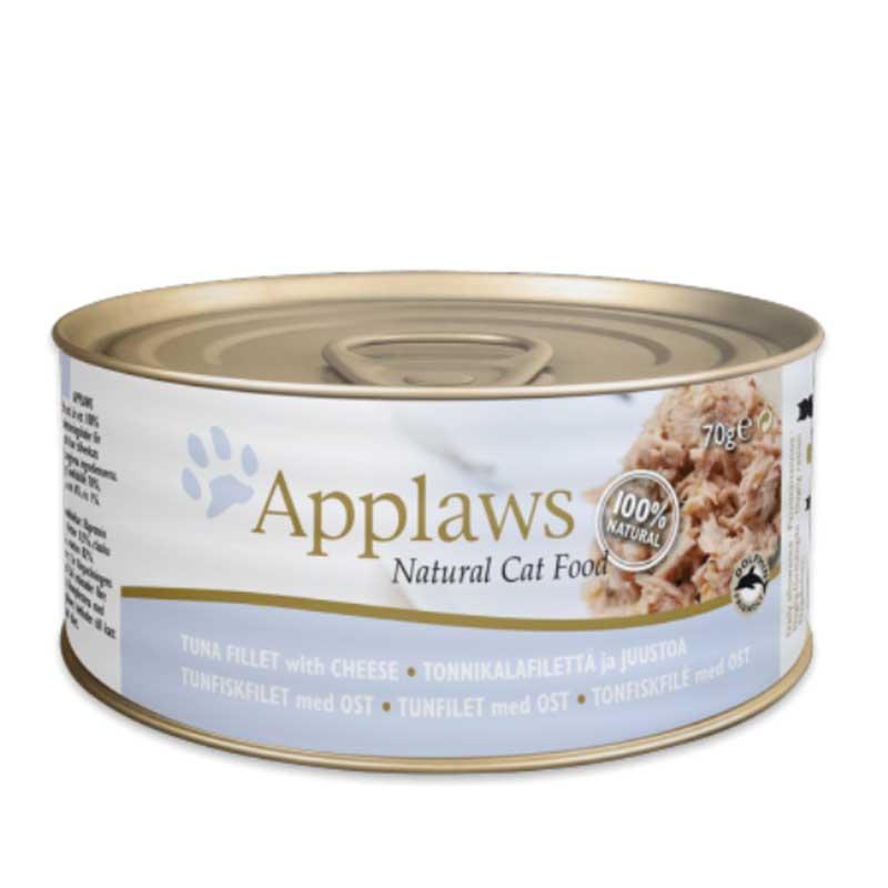 Applaws Tuna Fillet with Cheese - консерва с риба тон и сирене в бульон