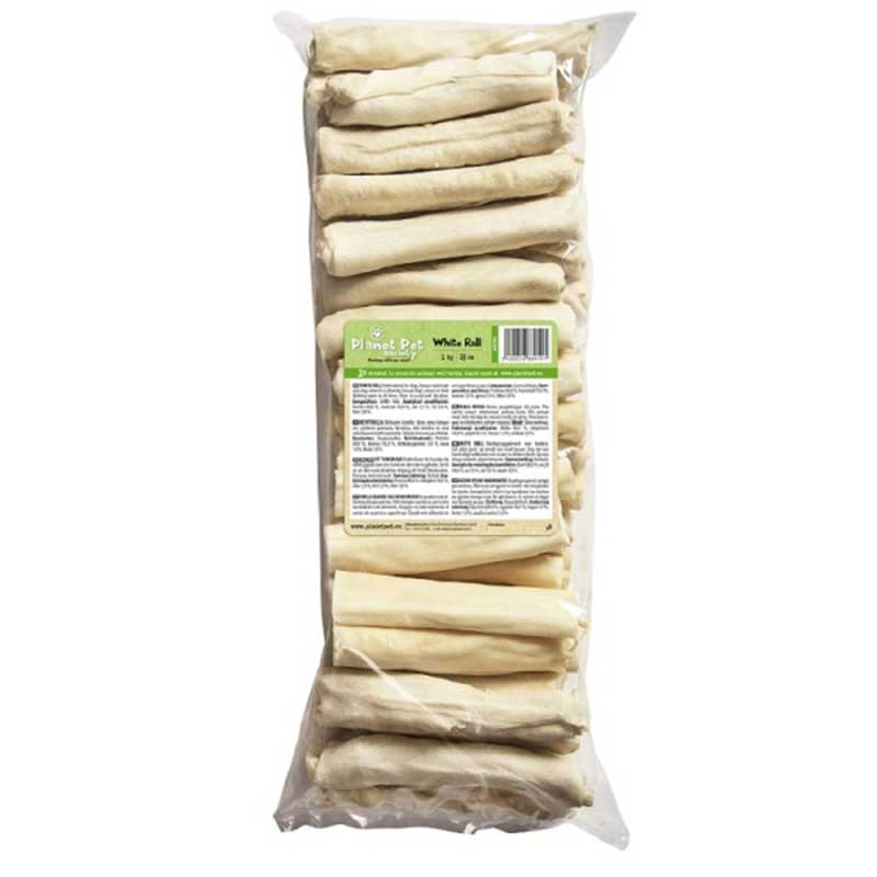Planet Pet White roll - деликатесно лакомство от телешка кожа 13см/1кг