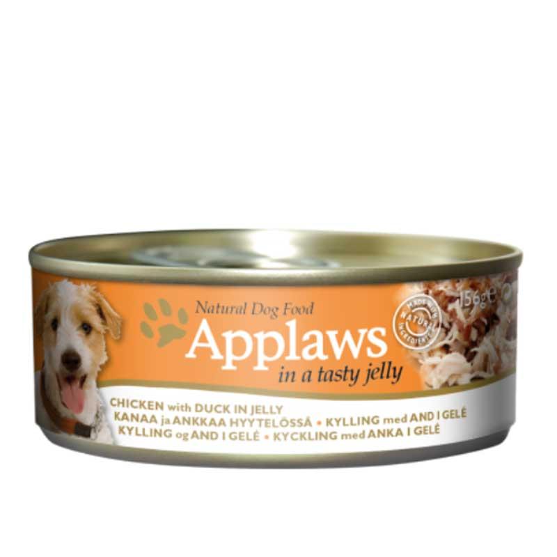 Applaws Chicken With Duck In Jelly - месни хапки с пилешко филе и патица в желе 156гр