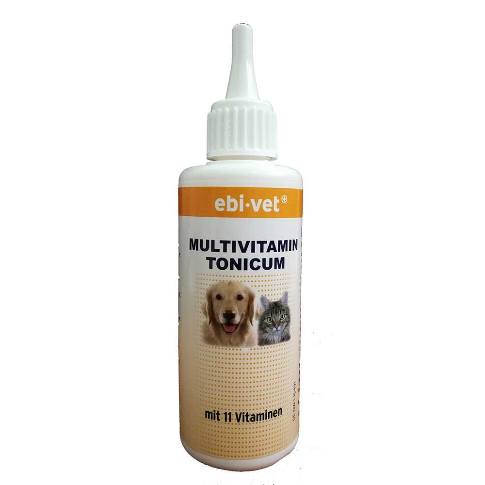 Ebi-Vet Multivitamin Tonicum - мултивитаминен тоник при проблем с стомашно-чревния тракт, стрес, бременност 100мл