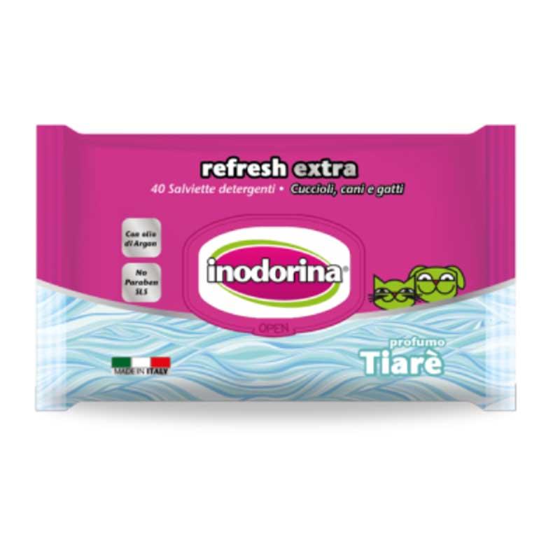 Inodorina Refresh Extra - мокри кърпички със смирна 40бр