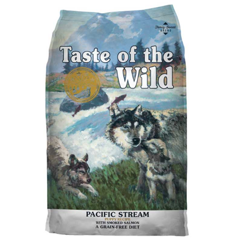 Taste of the Wild Pacific Stream Puppy Smoked Salmon - кучешка храна с пушена сьомга 13кг