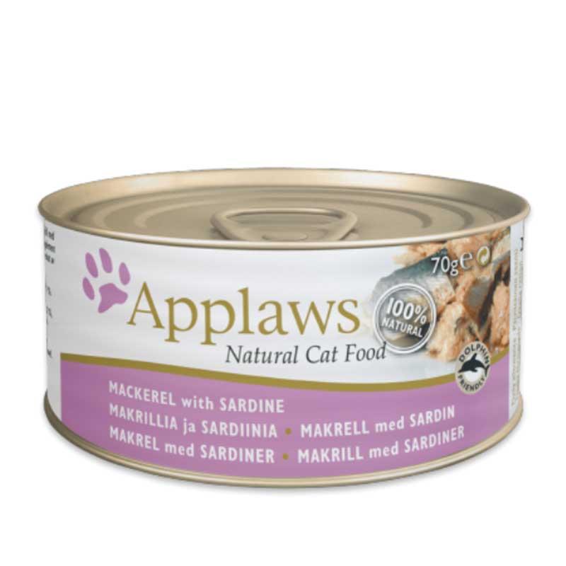 Applaws Mackerel with Sardine - консерва със скумрия и сардини в бульон 70гр