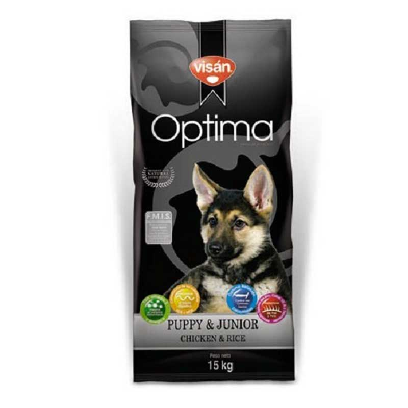 Optima Puppy Chicken & Rice - с пилешко месо, за кучета от 2 до 12 месеца