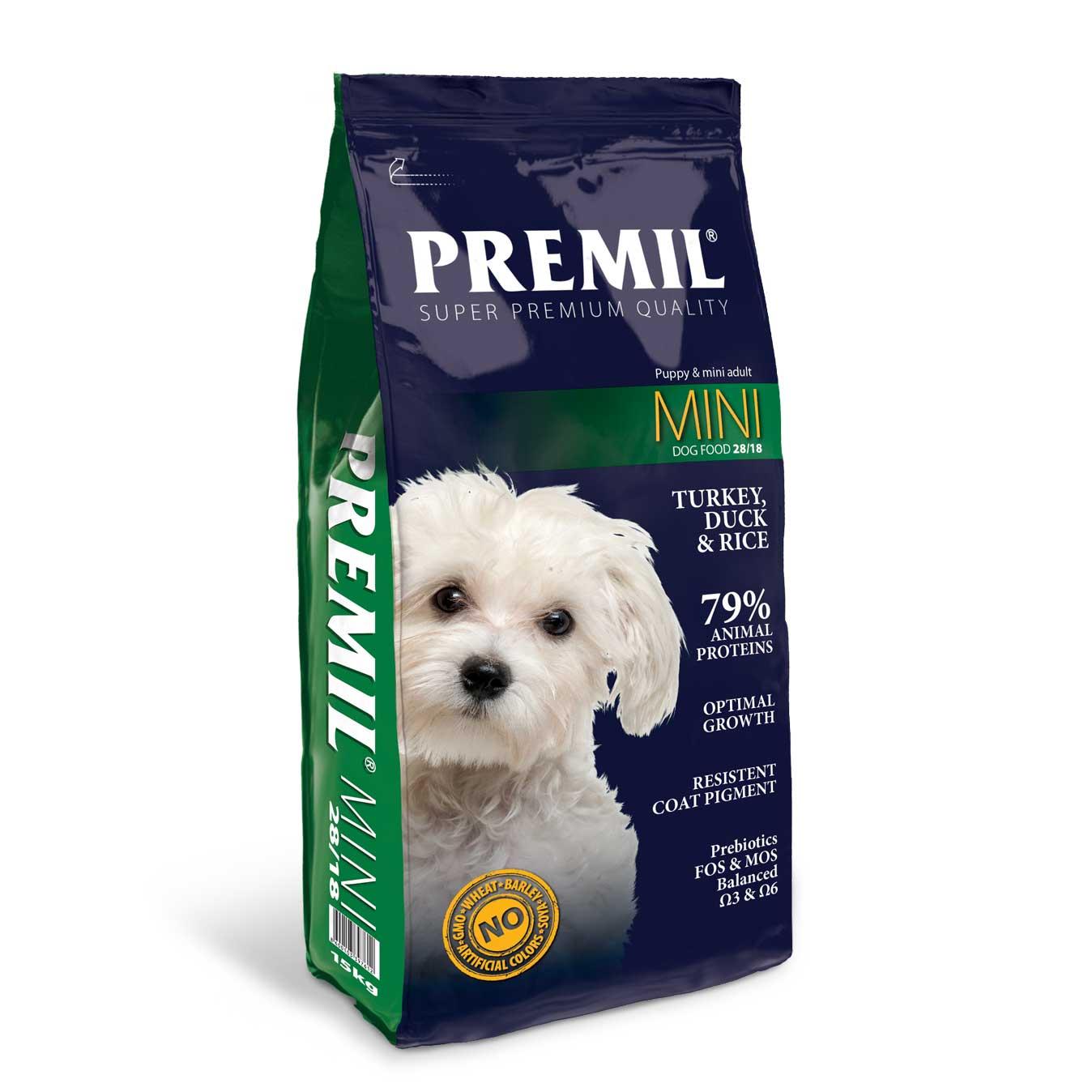 Premil Mini - за малки и средни породи 15кг
