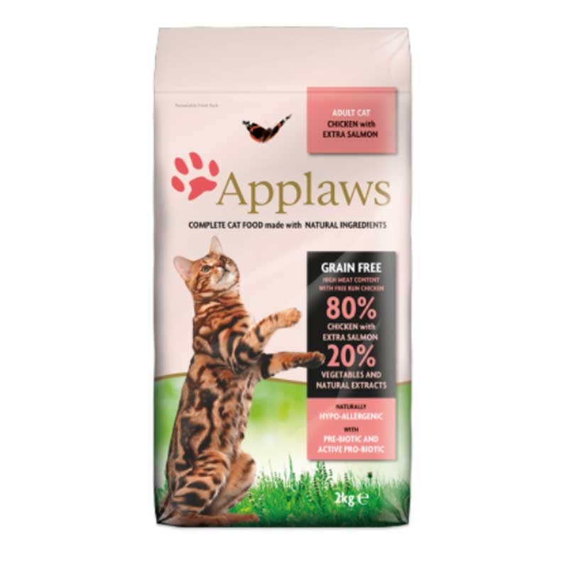 Applaws Adult Chicken with Extra Salmon - котешка храна