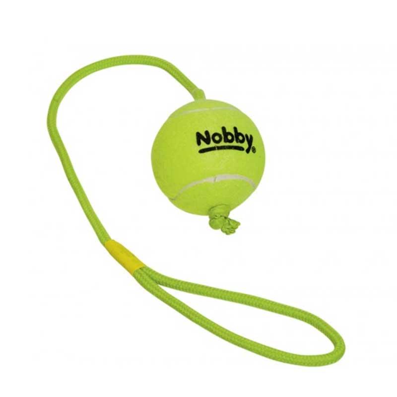 Nobby играчка въже с тенис топка