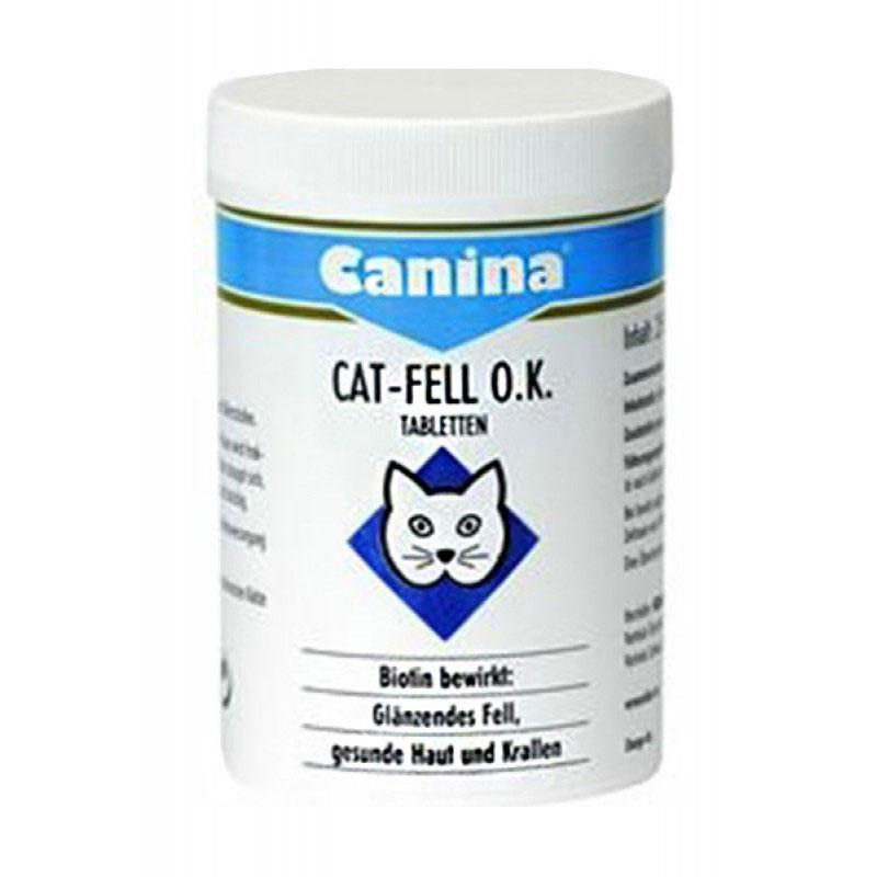 Canina Cat-Fell O.K. Tablets - за лъскава козина, здрава кожа и нокти, и оптимална пигментация 50гр