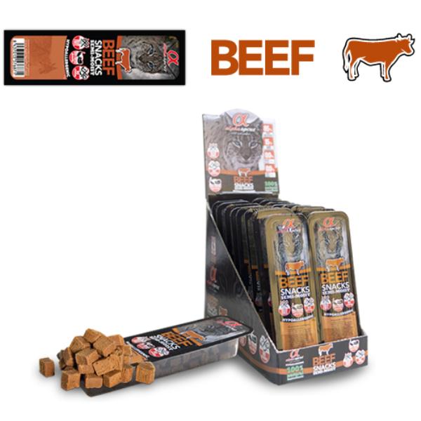 Alpha Spirit Beef Snack for cats - лакомство с телешко месо 4x35гр