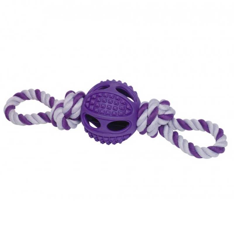 NObby - играчка с гумена топка и въже 6.5см