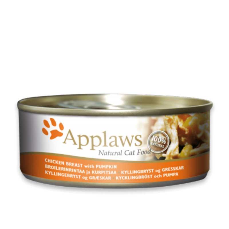 Applaws Chicken Breast with Pumpkin - консерва с пилешко месо и тиква в бульон
