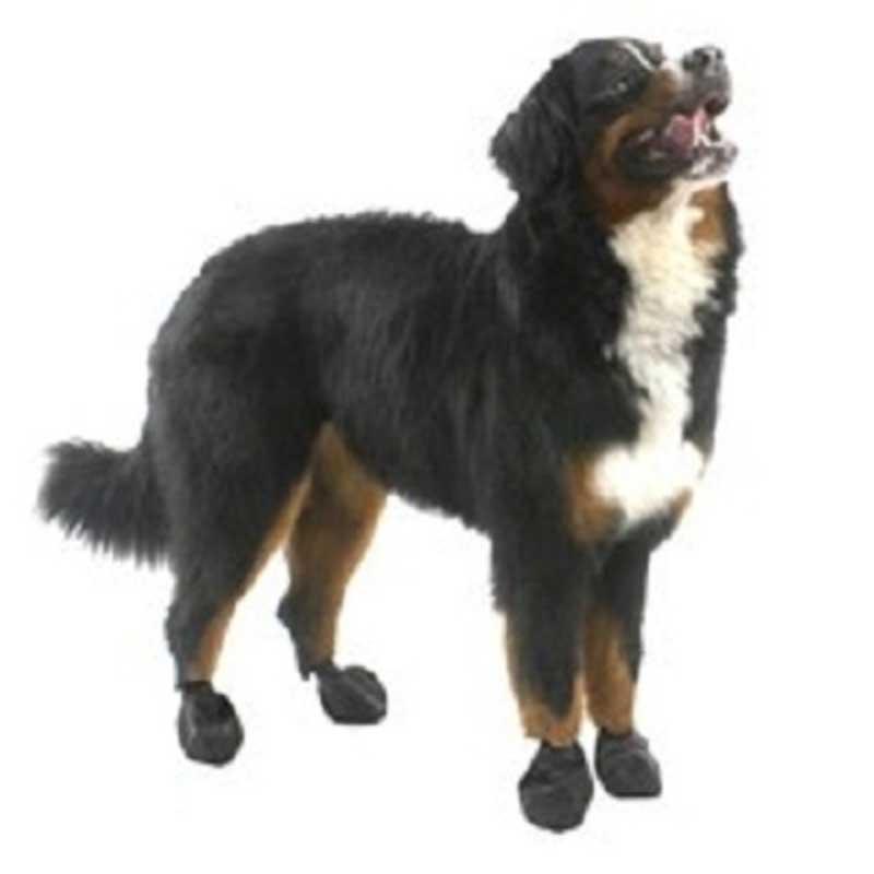 Pawz Medium Black - каучукова водоустойчива обувка за кучета с дължина на лапата до 7.5см 1бр