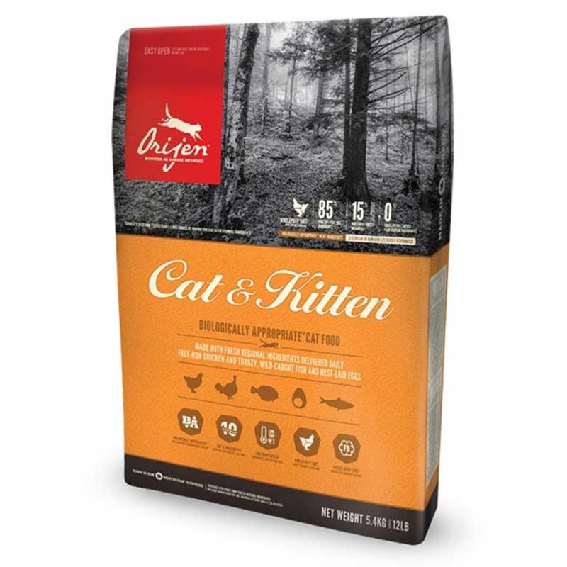 Orijen Cat & Kitten - за котенца и котки в зряла възраст 5.4кг