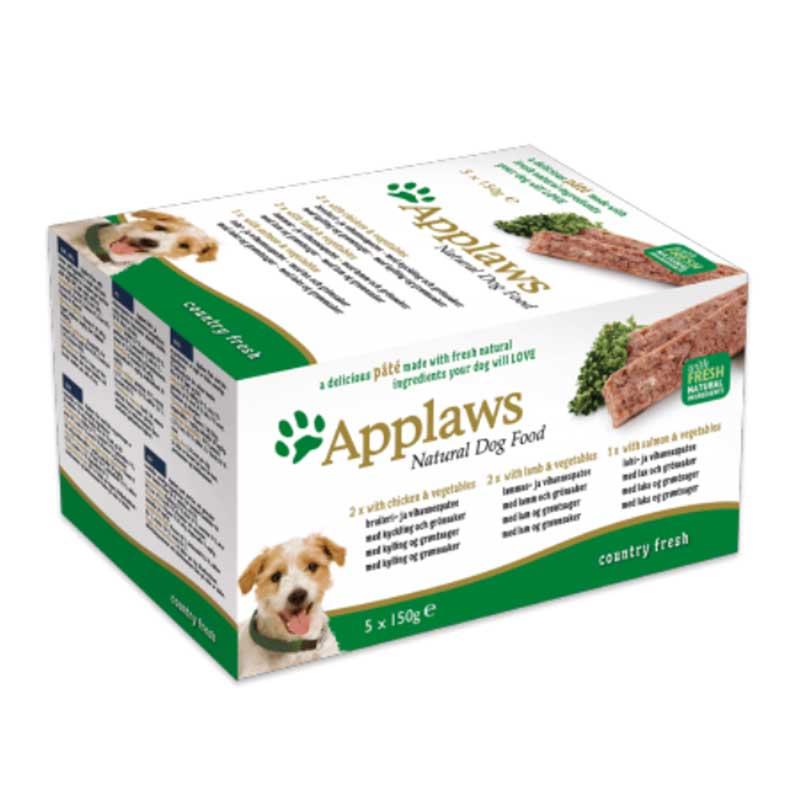 Applaws Pate Country Selection Multipack - пастет комбиниран 5х150гр