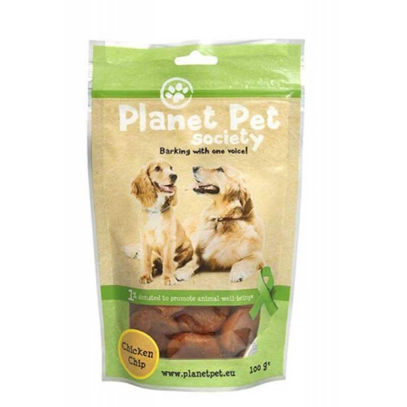 Planet Pet Chicken Chips - пилешки чипс от прясно месо 100гр
