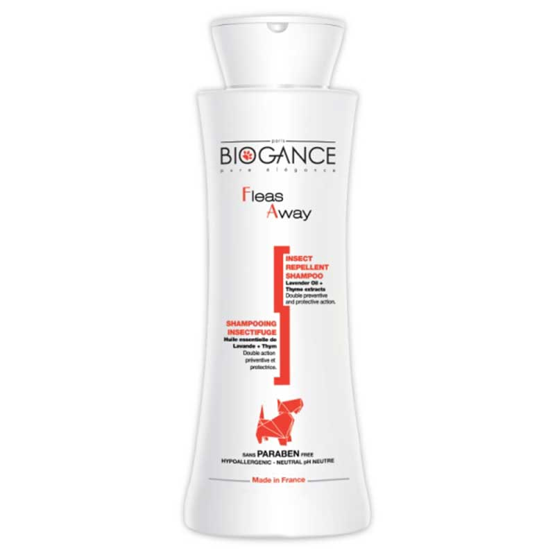 Biogance Fleas away shampoo -репелентен шампоан 250мл