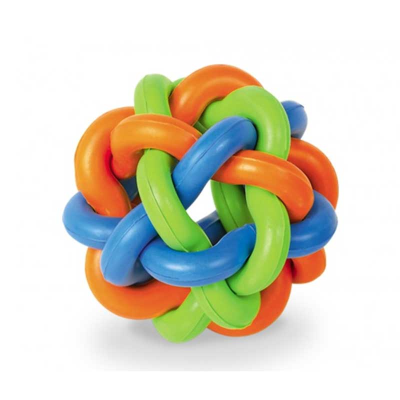 Nobby Rubber Knotted Ball - играчки 9.5см