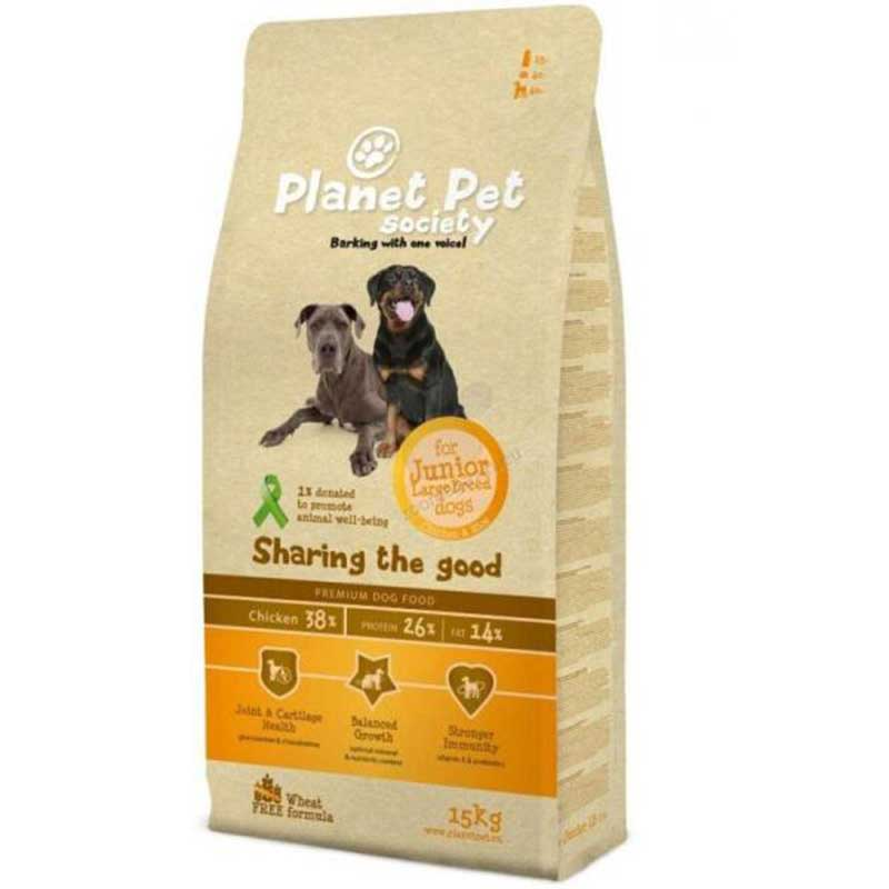 Planet Pet Society Junior Large Breed 15кг