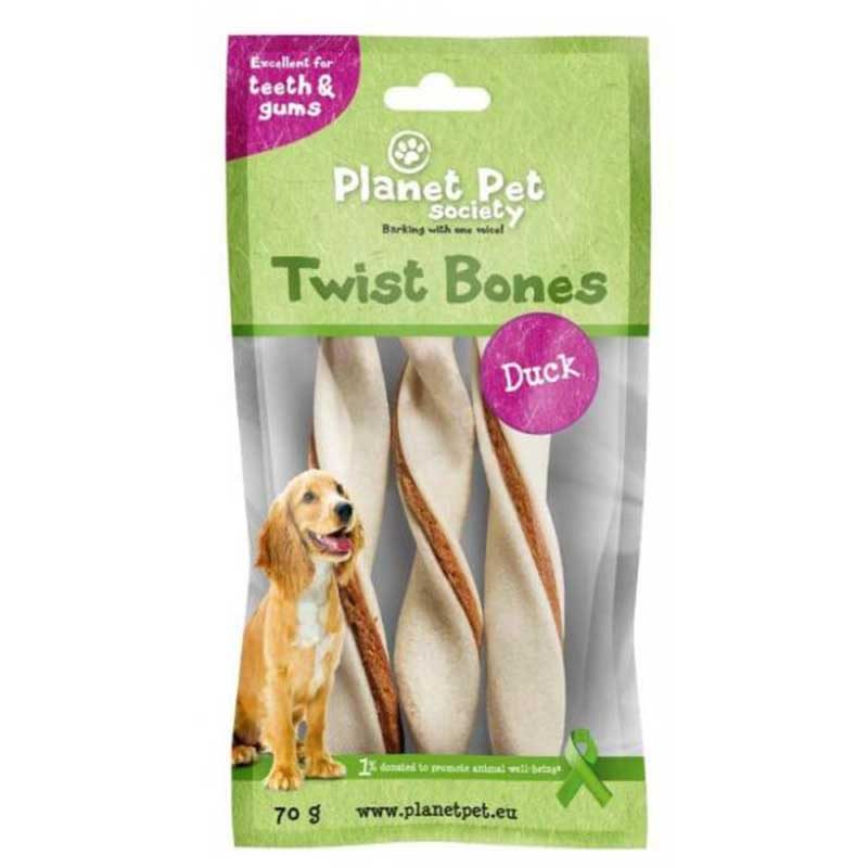 Planet Pet Duck twist bone - дентално лакомство с патешко месо
