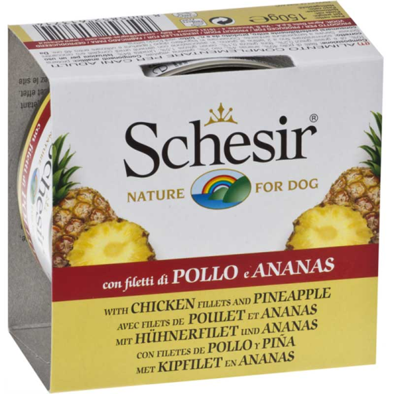 Schesir Nature Chicken and Pineapple - с пилешко филе и ананас - 150гр