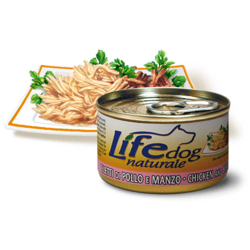 Life Natural Lifedog Fillets Beef and Chicken - с пилешки и телешки филенца 90гр