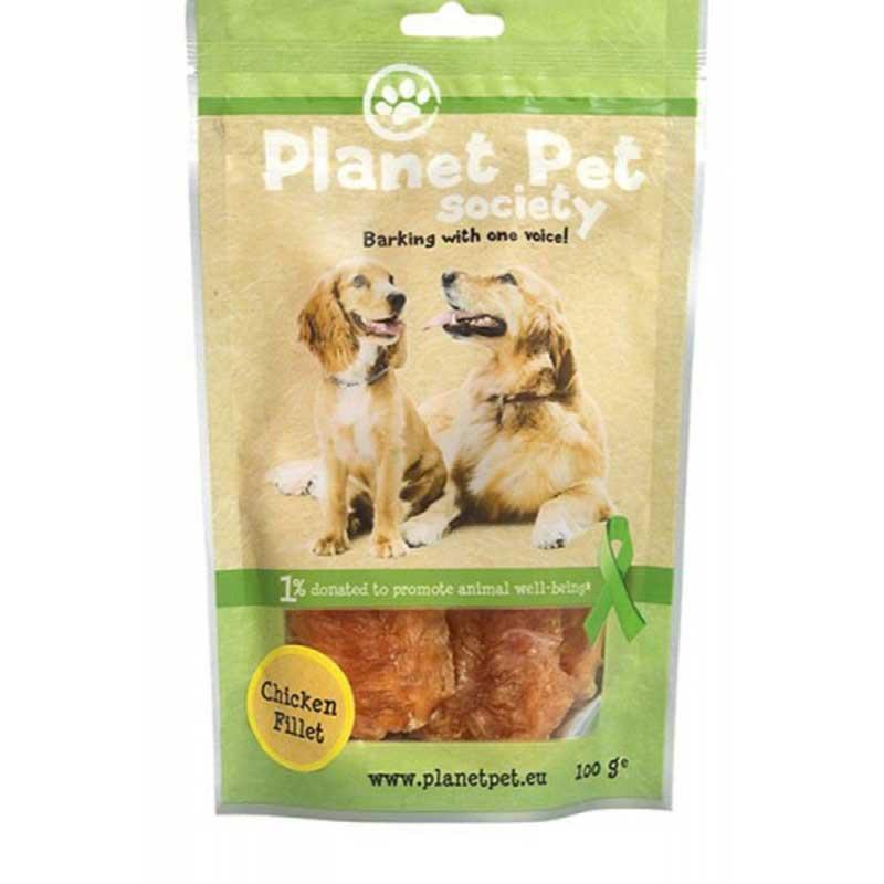 Planet Pet Chicken Fillet - пилешки филенца от прясно месо 100гр