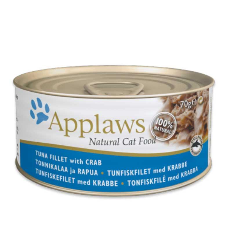 Applaws Tuna with Crab - консерва с риба тон и раци в бульон 70гр