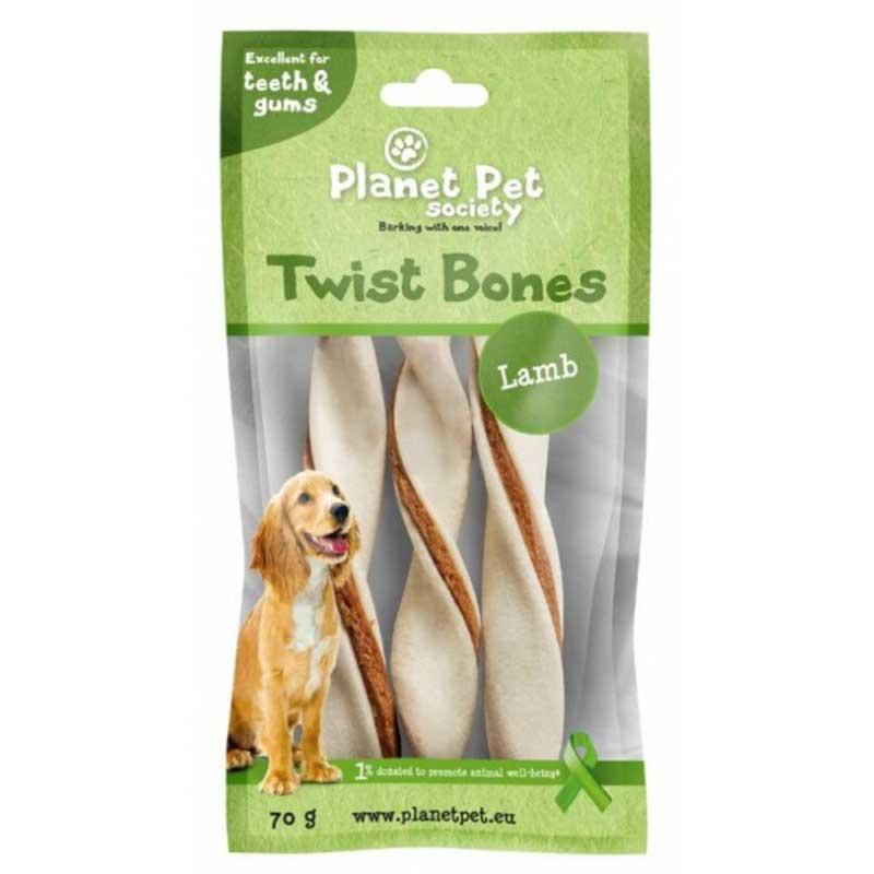 Planet Pet Lamb twist bone - дентално лакомство с агнешко месо