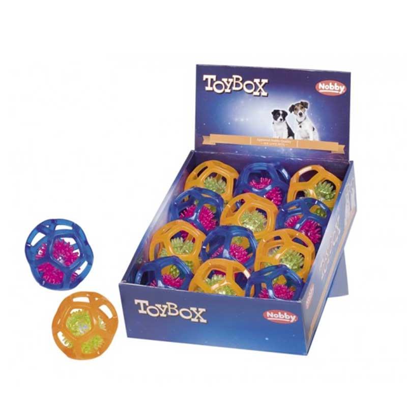Nobby TPR мигаща топка в топка 7.5см