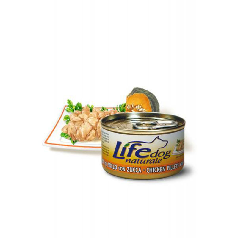 Life Natural Lifedog Chicken Fillets with Pumpkin - с пилешки филенца с тиква 90гр