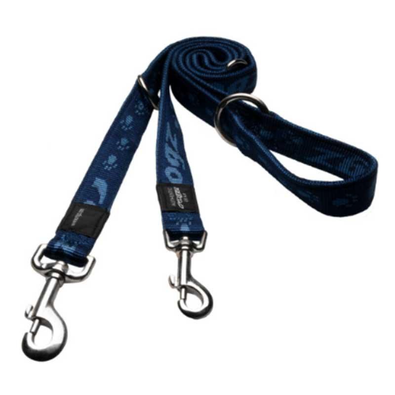 Rogz Alpinist B - син двоен повод за кучета