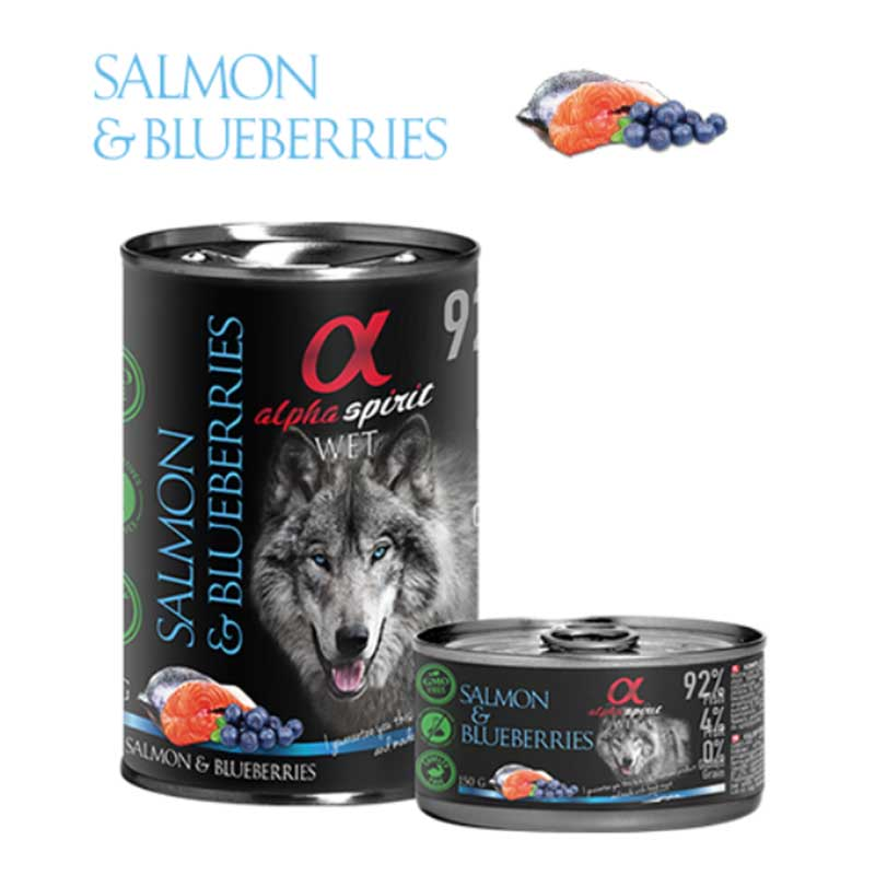 Alpha Spirit Salmon & Blueberries - консерва със сьомга и боровинки 150гр