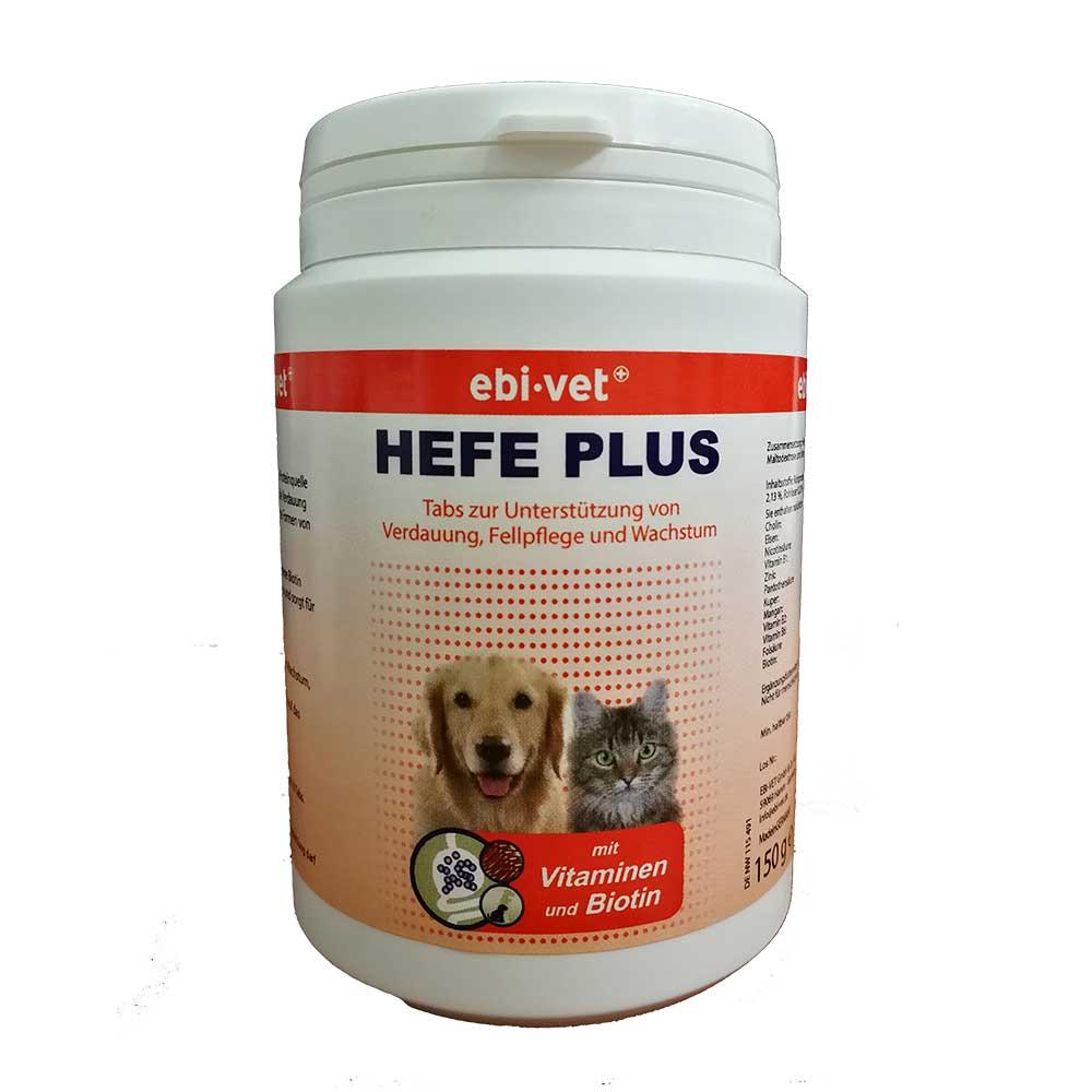 Ebi-Vet Hefe Plus - хранителна добавка при смяна на козината, кожни заболявания, липса на апетит 300табл