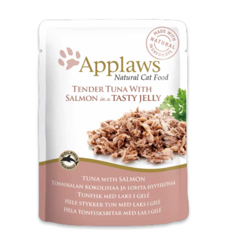 Applaws Tuna Wholemeat with Salmon in Jelly  - пауч с риба тони сьомга в желе 70гр